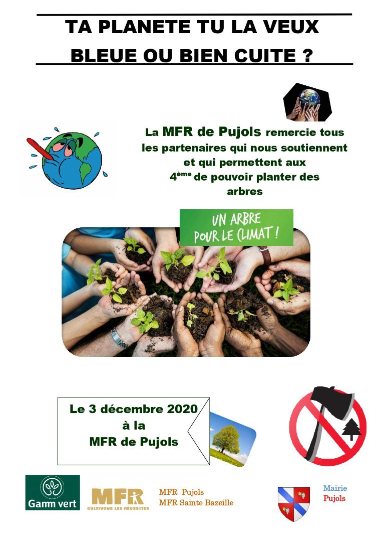 COM MFR Pujols un arbre pour le climat