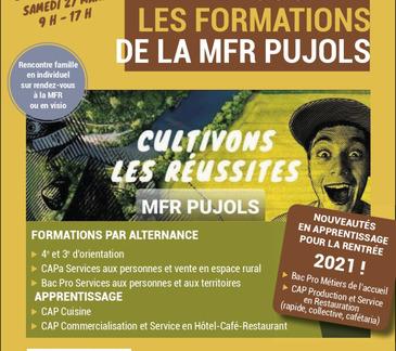 Venez découvrir les formations de la MFR Pujols
