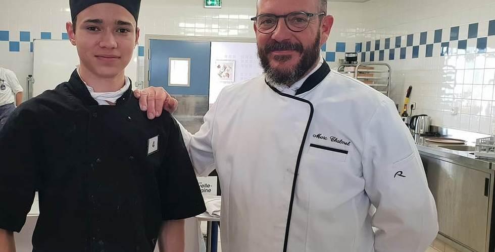 Travail avec des cuisiniers professionnels - MFR Pujols