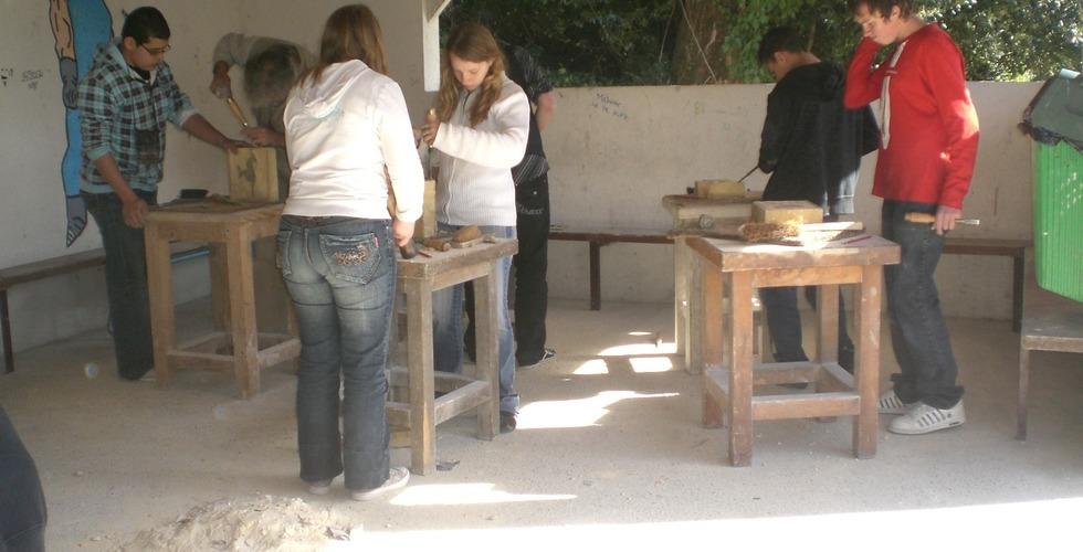 Atelier taille de pierre - MFR Pujols dans le Lot-et-Garonne