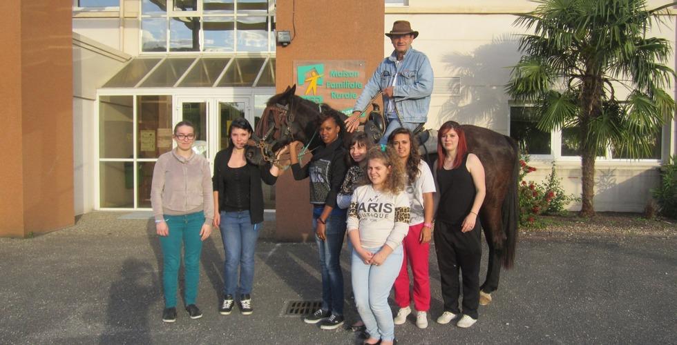 Classe d'élèves de la MFR Pujols dans le Lot-et-Garonne