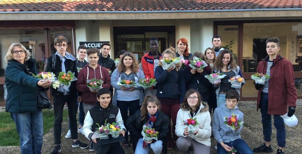 Atelier fleuriste - MFR Pujols dans le Lot-et-Garonne