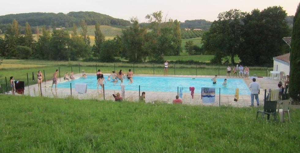 La piscine de la MFR Pujols dans le Lot-et-Garonne